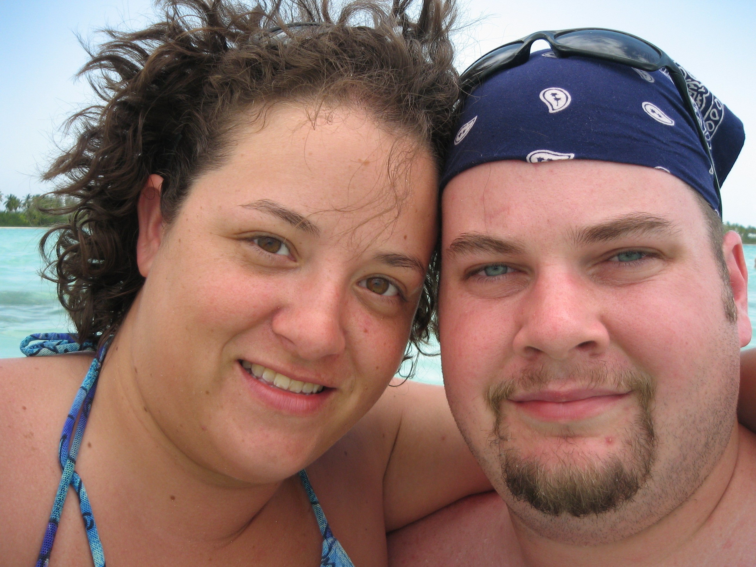 bj and katie saona island self portrait